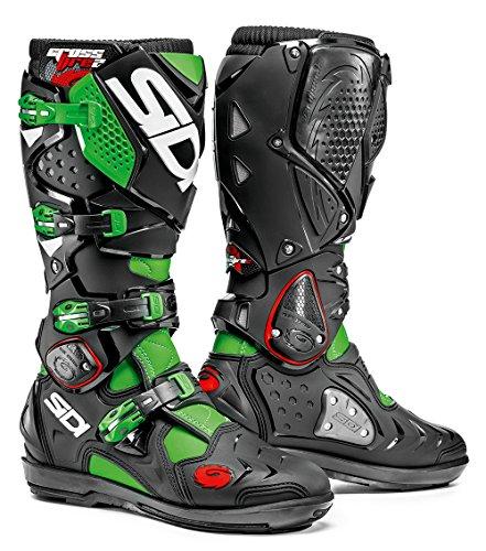 Sidi Crossfire 2 SRS Stivali da Moto, Verde Fluo/Nero, 43