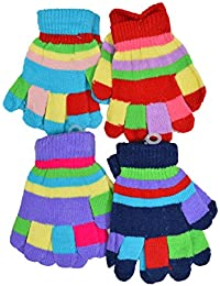 Crux&hunter 4 pair assorted colours infants woolen gloves 1-3 years