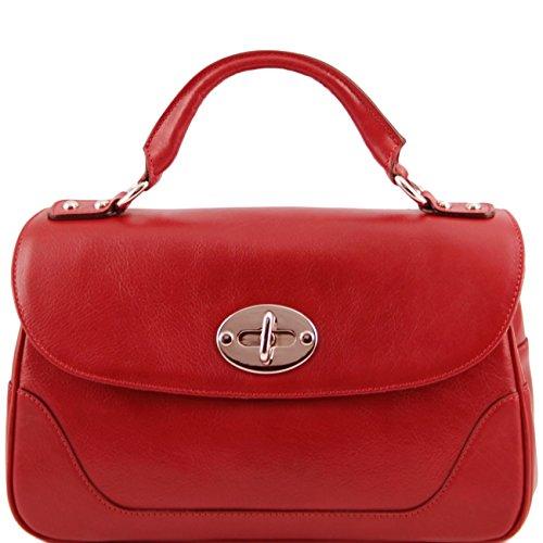 Tuscany Leather TL NeoClassic - Bauletto piccolo in pelle Rosso Borse donna a mano in pelle Rosso