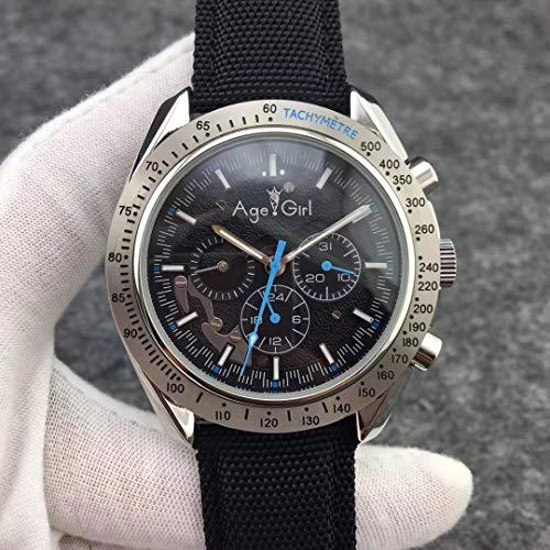 PLKNVT Herrenuhren Top-Marke Automatische Mechanische Uhren Silber Leder Leinwand Leuchtend Rot Blau Gelb Mond Uhr Glas Zurück3 - Leuchtend Rotes Leder