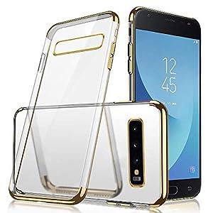 Saceebe Hülle kompatibel mit Galaxy S10e Hülle Silikon TPU,Klarer Kristall Transparent TPU Silikon Berzugrand Hülle TPU…