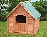 Grande in legno Apex hutch. Resistente agli agenti atmosferici legno trattato. Piedini regolabili per superfici irregolari. Facile da montare. Chiusura di sicurezza sulla porta. Eccellente ventilazione attraverso la griglia sull' anta. 84x 101x 87...