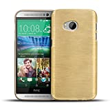 CoolGadget HTC One Mini 2 Hülle, Ultra Thin Brushed Cover Schlank Weich Flexibel Anti-Kratzer Schutzhülle Abdeckung Case, Silikon Cover für One Mini 2 - Gold