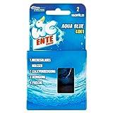 WC-Ente Original Nachfüller für WC-Ente Duftspüler Aqua Blue 4in1, WC-Stein für Frische und Sauberkeit bis zu 3 Wochen, 2 x 40 g