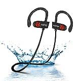 BELLESTYLE Auriculares Bluetooth, IPX7 Waterproof In Ear Wireless 4.1 Auriculares Headsets Estéreo Auriculares Deportivos a Prueba de Golpes con Micrófono Incorporado y 8 Horas Tiempo de Juego
