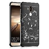 OFU® für Huawei Mate 9 Hülle,perfekt TPU Schutzhülle Tasche Case Cover Ultradünn Kratzfest Weich Flexibel Silikon für Huawei Mate 9-schwarz