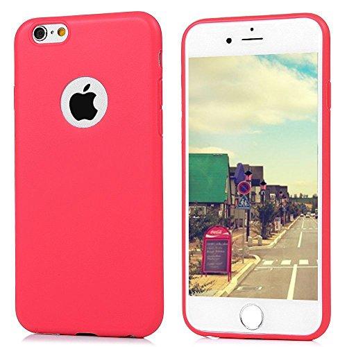 Cover iPhone 6S (4.7),ToDo Custodia iPhone 6 Gel Silicone TPU Morbido Elegant Ultra Tinta Unita Sottile Opaco Flessibile Gomma Cassa Protettiva Antiurto AntiGraffio Antiscivolo Leggero Cellulari Prot Rosso