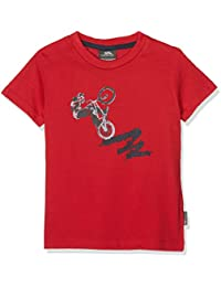Trespass Kids Wheelspin T-Shirt with Chest Print for Children Boys/Toddlers Ages 2-12 for Outdoor/Fun/Sports/Leisure