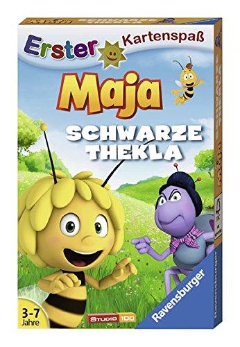 Ravensburger–20328-4–Kartenspiel–Biene-Maja Ravensburger Kinderkartenspiele 20328 – Biene Maja Schwarze Thekla -
