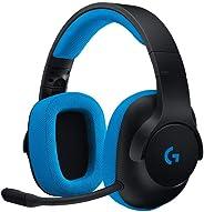 Logitech G233 Prodigy - Auriculares de Diadema Cerrados (con micrófono y Cable, para Gaming, PC, Xbox One, PS4, Switch, móvi