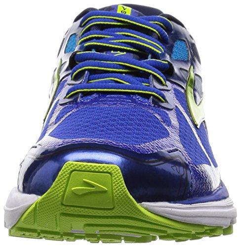 Brooks Ravenna 7, Chaussures de Running Compétition Homme Blau (SurfTheWeb/LimePunch/PeacoatNa)