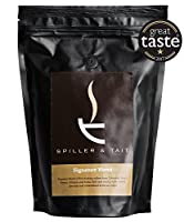 Spiller & Tait Signature Blend - Ground Coffee 500g Bag – Multi Award Winning - Roasted in Small Batches in the UK – Suitable for Filter/Aeropress/Cafetiere