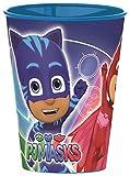 PJ Masks- P.J.Masks Vaso plastico (STOR 01907), Estampado, Color Azul y Rojo,...