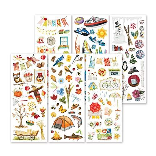 Winter Classic Foto (Creative Memories Seasonal Classic Sticker, 6 Bögen handgemalte Seasonal Scrapbook-Sticker)