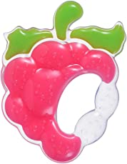 NOYMI Textured Silicone Teethers Baby Toys Infants Dental Care Fruit Shape Teether (Strawberry&Red)