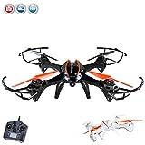 XXL 4,5 Kanal RC ferngesteuerter Quadrocopter 3D Drohne mit 720p HD-Kamera optional mit WIFI Live-Übertragung-Set oder mit Monitor 5.8GHz FPV Kamera-Kit erweiterbar, Headless, 6-axis Gyro und vieles mehr, Mega-Set inkl. Crash-Kit