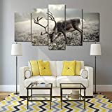 Canvas Painting 5 Piece HD Printed Animal Deer Print Room Decor Print Poster Picture Modern Home Decoration SJDBF