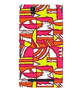 EPICCASE Colurful madness Mobile Back Case Cover For Sony Xperia T2 (Designer Case)