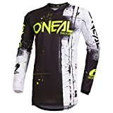O'Neal Element Shred Kinder Motocross Jersey MTB Mountain Bike Fahrrad Enduro FR DH Trikot, 002E-Youth, Farbe Schwarz, Größe XL