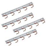 4 x Geräteleiste 50 cm Stahl S Haken