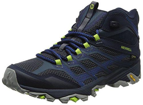 Merrell Moab Fst Mid GTX, Herren Trekking- & Wanderstiefel, Blau (Navy), 45 EU (10.5 UK) (Pace Glove)