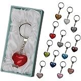 Brubaker - Llavero en caja de regalo, diseño de corazón de cristal, varios colores