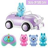 Joyhero Ferngesteuertes Auto RC Auto Fernbedienung RC Auto Spielzeug Cute Einfach zu bedienen mit 3 Verschiedenen Treibern Nizza Musik und Licht Spielzeug Interessant ab 2 Jahre für Kinder Lila