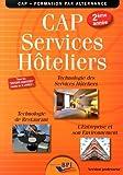 CAP Services hôteliers 2ème année - Professeur...