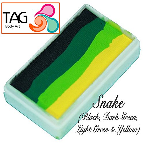 TAG Face Paint 1-Stroke Split Cake - Snake (30g) by TAG Body Art