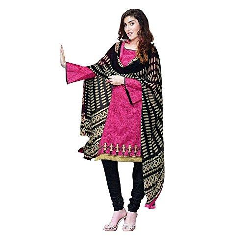 Rich Chanderi Silk Embroidered Salwar Kameez Suit (Un-Stitched Dress Material)