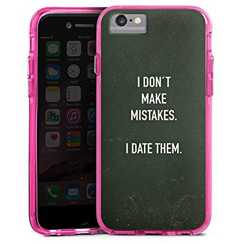 Apple iPhone 8 Bumper Hülle Bumper Case Glitzer Hülle Date Humor Saying Bumper Case transparent pink