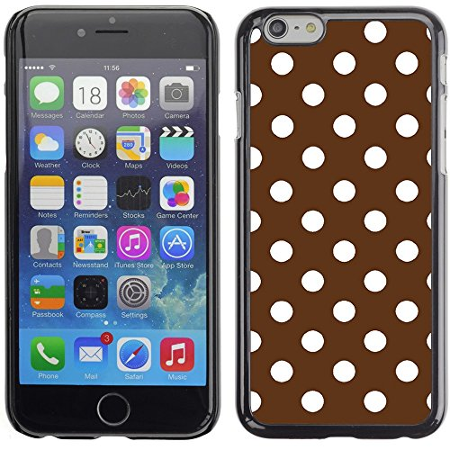 Graphic4You Polka Dots Pattern Design Hard Case Cover for Apple iPhone 6 Plus (Baby Blue) Braun