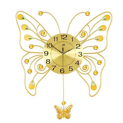 Grand papillon salon balançoire horloge murale élégant moderne montres personnalisé chambre table horloge