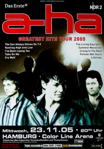 A-HA - Concert Poster - 2005 - Tour Poster - Concert - Poster