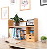 ZMSJ-YJ Bücherregal/Tisch Bambus Bücherregal Student Kinder Easy Desktop Kleine Bücherregal Storage Regal Office Kleine Bücherregal Bücherregal (Farbe : 2, Größe : 48 * 19 * 46CM)