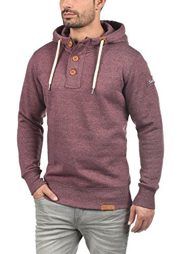 SOLID TripStrip Herren Kapuzenpullover Hoodie Sweatshirt aus hochwertiger Baumwollmischung, Größe:M, Farbe:Wine Red Melange (8985) - 2