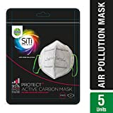 Dettol Siti Shield Carbon Activated Air-Pollution Mask, 1 Unit (Pack of 5)
