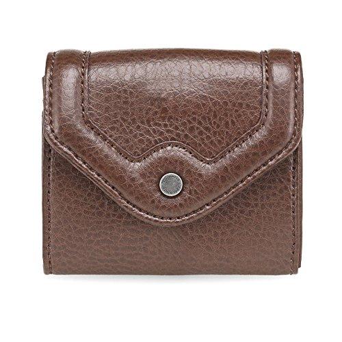 TAMARIS Damen Brieftasche Geldbörse, CAMILLA, 2 Farben: mocca braun oder mud beige, Farbe:mocca braun