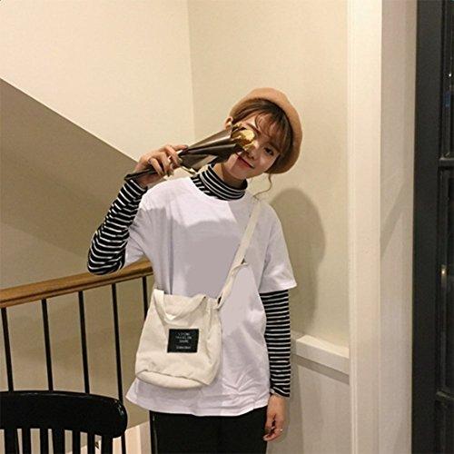 LAAT Frauen Beutel Art und Kordhose Handtasche beiläufige Schulter Beutel Mini Kuriertaschen Kreuzkörper Beutel im Freien Geldbeutel weiß