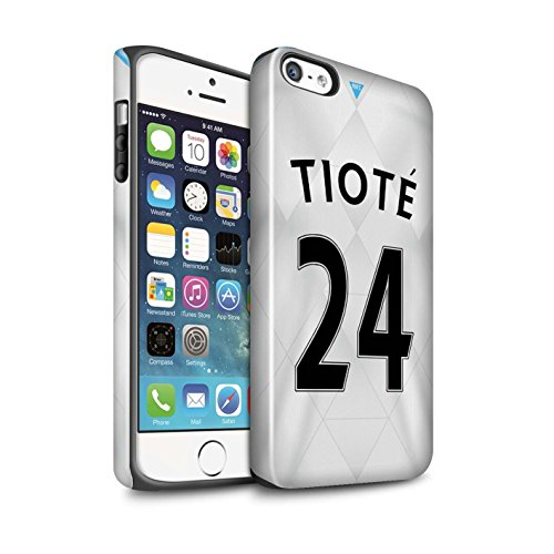 Offiziell Newcastle United FC Hülle / Glanz Harten Stoßfest Case für Apple iPhone SE / Pack 29pcs Muster / NUFC Trikot Away 15/16 Kollektion Tioté