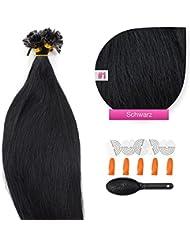 200Extensions de cheveux Extensions cheveux Remy Kératine 60cm–Beaucoup de couleurs et accessoires inclus.