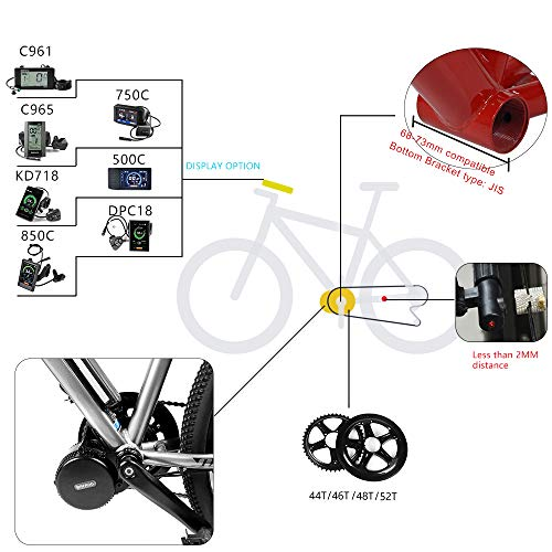 51x6yL7tgyL. SS500  - Bafang BBS01B 36V 250W Mid Motor Kit Road Bike Conversion Mid Drive Mountain Bike Mid Drive System