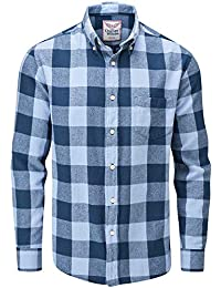 dc0850aee1cf8 Charles Wilson Camisa Franela de Cuadros Manga Larga para Hombre