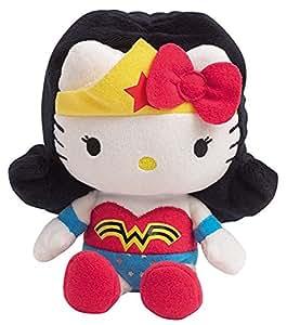 Jemini - 022788 - Peluche - Hello Kitty Super Héros - Wonderwoman 17 Cm