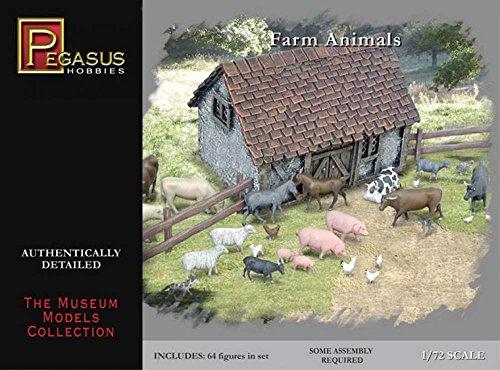 Pegasus PG7052 - 1/72 Amerikanische Geschichte: Farmtiere Figuren