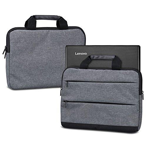 NAUC Laptoptasche Sleeve Hülle für Lenovo Thinkpad Yoga 370 13,3 Zoll Schutzhülle Tragetasche mit Griffen und Zubehörtaschen, Farbe:Dunkelgrau