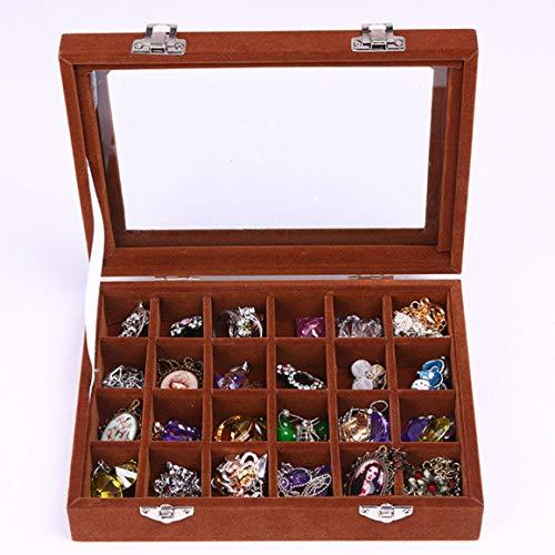 yejifs Aufbewahrungsbox für Schmuck und Ringe, Samtglas, Aufbewahrungsbox für Ohrringe CE