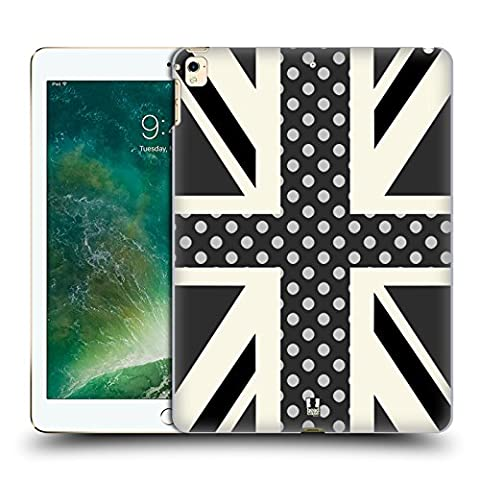 Head Case Designs Onyx Polka Dots Union Jack Collection Hard Back Case for Apple iPad Pro 12.9 (2016/17)