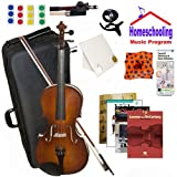 homeschool Musik–Learn To Play The Viola Pack (Lennon und McCartney Musik Buch Bundle)–Beinhaltet Student 40,6cm Viola w/Fall, Schleife, Bücher & All Inclusive Learning Essentials