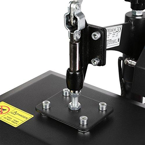 Lartuer Transferpresse Textilpresse T Shirtpresse Heat Press Machine 24X30cm mit Elektronische Zeitregelung und Temperaturüberwachung (24X30cm) - 6